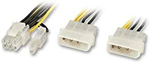 LINDY Câble Adaptateur Interne Graphique SLI pour Cartes PCIe avec Prise 6pins ou 8pins