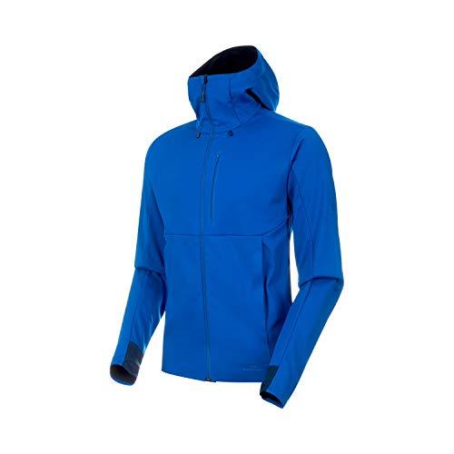 Mammut Herren Ultimat V Hooded Softshell-Jacke mit Kapuze, Surf-Black, XL