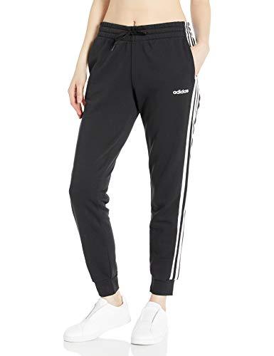adidas Women's Essentials 3-Stripes Tricot Joggers, Black/White, Small
