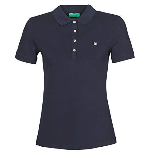 United Colors of Benetton Damen Polo Poloshirt, Blau (Blu 016), Large