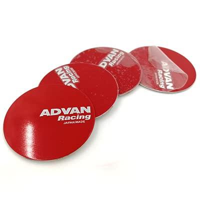 tieoqioan Auto Parts 4pcs 50 MM Wheel Center Sticker Cover Eje de Rueda para ADVAN, Etiqueta de modificación de automóvil