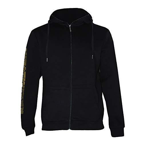 Rammstein Herren Kapuzenjacke Flügel Offizielles Band Merchandise Fan Zipper schwarz mit mehrfarbigem Front und Seiten Print (L)