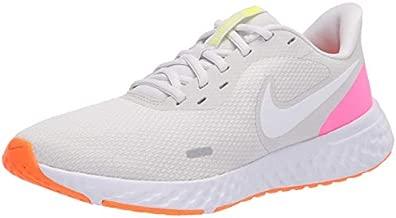Nike Women's Revolution 5 Running Shoe, Platinum Tint/White-Pink Blast-Total Orange-Lemon Venom, 7 Regular US