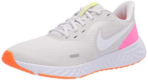 Nike Women's Revolution 5 Running Shoe, Platinum Tint/White-Pink Blast-Total Orange-Lemon Venom, 8.5 Regular US