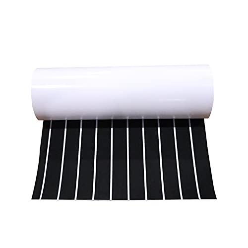 PINGHLIZHA Flat Store 600x2400x5mm Eva-Schaum-Faux-Teak-Boot-Bett-Matte-Braun-Terrassendielen-Sheet-Yacht-Bodenbelag Anti-Skid-Matte selbstklebend Fahrzeug-Pad (Color : Black White Accents)