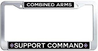Combined Arms Support Command Car License Plate Holder Stainless Steel License Plate Frame Holder