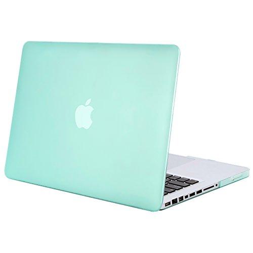 MOSISO Hülle Kompatibel mit MacBook Pro 13 mit CD-ROM Drive - Plastik Hartschale Hülle Kompatibel mit Alt MacBook Pro 13 Zoll (A1278, Version Early 2012/2011/2010/2009/2008), Minze Grün