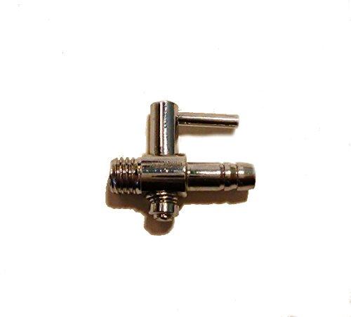 Absperrhahn Metall mit Gewinde für Ringleitung /Luftschlauch 4/6 mm
