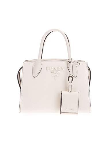Prada Luxury Fashion Damen 1BA269VNOO2ERXF097W Weiss Leder Handtaschen | Jahreszeit Permanent