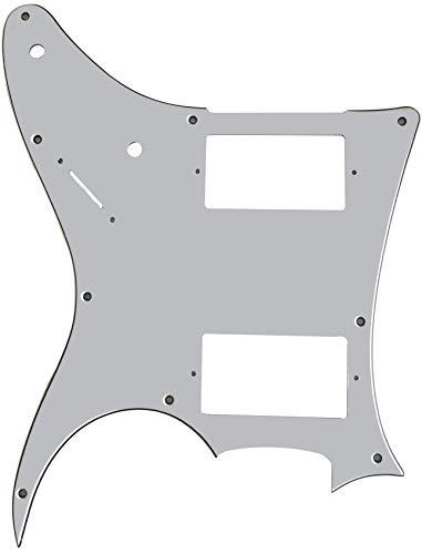 Partes de guitarra para Ibanez MIJ RG X20 Style Guitarra Golpeador, 3 capas de color blanco.