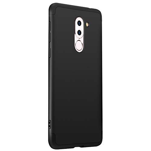 Alsoar Compatibile/Sostituzione per Cover Huawei Honor 6X,Huawei Honor 6X Custodia 360 Gradi Full Body Protezione 3 in 1 Hard PC Ultra Sottile Antiurto Anti-Scratch Bumper Protettiva Case (Nero)
