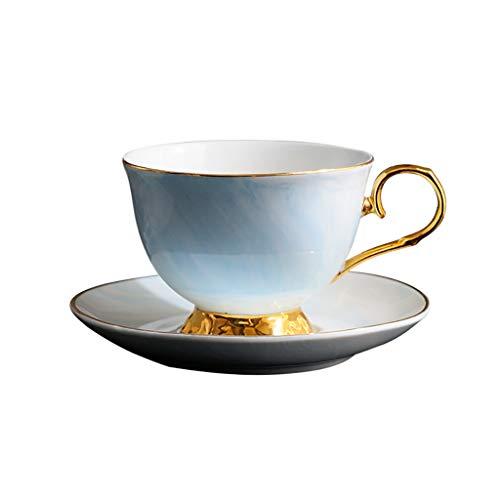 Du hui marmer keramische bot China koffiemok, 230ml kop en schotel set voor thuis en op kantoor koffie, geschenken voor vrienden en familie