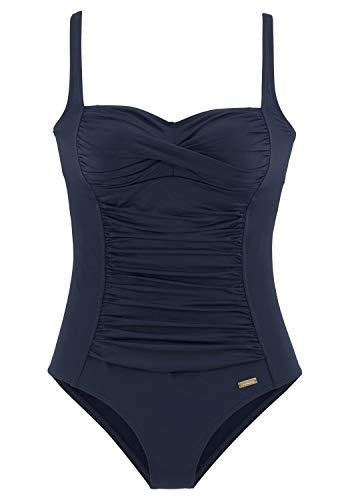 Lascana Damen Badeanzug, Blau (Navy 24), 42
