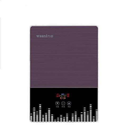 LYHY Calentador de Agua Caliente de Temperatura Constante de baño instantáneo electrónico 7kW con Pantalla LCD (Color: púrpura)