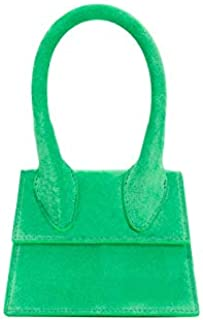 Adebie - Handle Simple Luxury Designer Mini Cute Handbag Suede Square Women Crossbody Bags Shoulder Strap Sling Bags 2019 Hot Small Totes S 18.5cm Green [S 18.5cm]