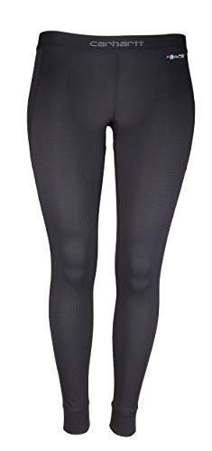 Carhartt Women's Force Midweight Tech Thermal Base Layer Pant, Deep Black, Medium