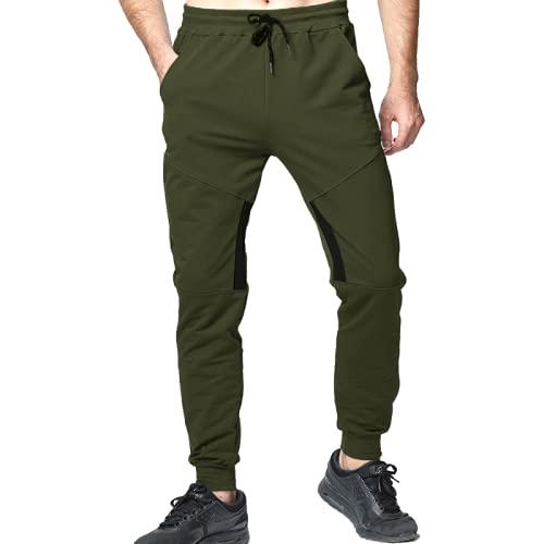 Huntrly Pantalones Casuales para Hombre Primavera y otoño Moda Casual Fitness Pantalones para Correr...