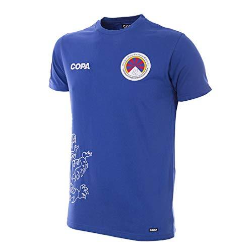 copa Herren Tibet T-Shirt mit Rundhalsausschnitt, blau, L
