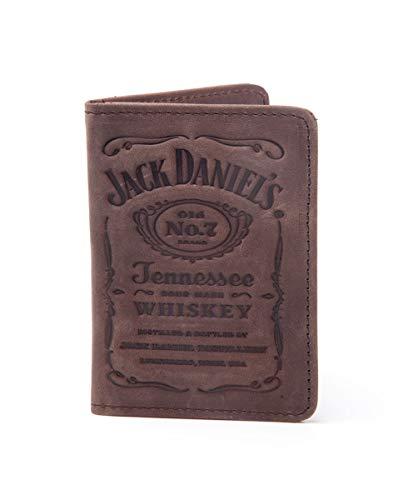 Jack Daniel's Wallets Jack Daniel's - Debossed Logo Men's Card Wallet Black