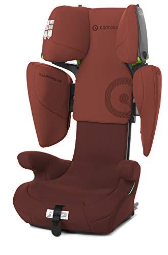 Concord Transformer iTech i-Size-Kindersitz, von 100 bis 150 cm, ab 3,5 bis 12 Jahre, Isofix, Farbe Rot (GRAPE RED)