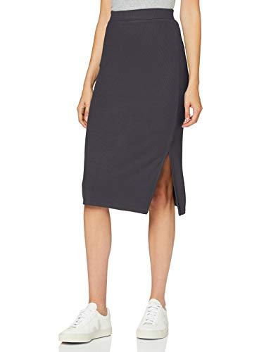 find. Damen Maxirock aus Baumwolle, Grau (geschwärzte Perle), 34, Label: XS