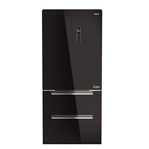 Teka RFD 77820 GBK Frigorífico, French Door, Cristal Negro