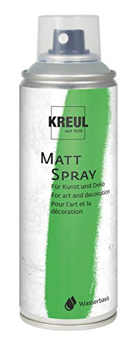 Kreul 76326 - Farbspray grau, 200 ml, klassisch matte Sprühfarbe auf Wasserbasis hochpigmentiert und wasserfest styropofest für Innen und Außen