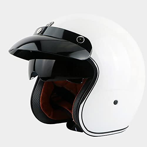 EBAYIN Cascos Half-Helmet Cascos Abiertos Brain - Cap 3/4 Casco Retro Harley...