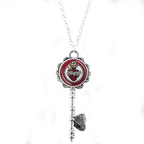 bab Corazón Inmaculado de María Color Rojo – Medalla Católica Cristiana Collar Collar Joyería