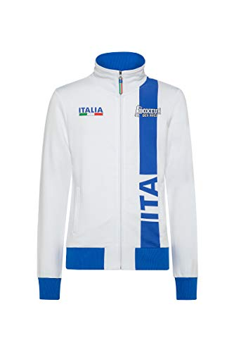 BOXEUR DES RUES - Fpi Man Italia Sweatshirt Full Zip, Uomo, White, XL