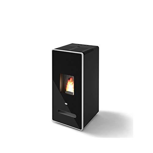 Eva Calor Estufa de pellets Zaira 13 kW con cristal serigrafiado negro - 901636400