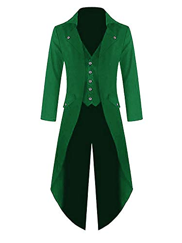 Heren Gothic Frack Steampunk jas middeleeuwse gehrock mantel Victoriaans carnaval kostuum Cosplay uniform Fashing Smoking jas