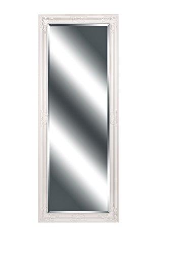 B.U.S. Wohnstyle Wandspiegel Spiegel Barock weiß Lynette Ganzkörperspiegel 160 x 60 cm