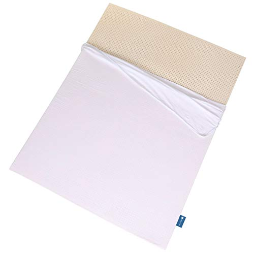 "Organic 100% Natural Latex Mattress Topper - Includes Organic Cover - Firm (3"" Queen)"