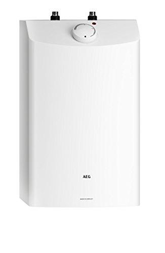 AEG Haustechnik AEG druckloser Kleinspeicher Huz 10 Öko, 10 Liter, 2 kW, mit ThermoStop-Funktion, Untertisch, steckerfertig, stufenlose Temperaturwahl von ca. 35-85 °C, 229486, 2 W, 230 V