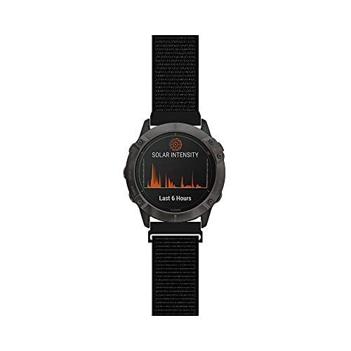 길쌈된 나일론 결박과 호환 GARMIN FENIX6X PRO | 사파이어 | 태양 프리미엄 멀티스포츠 GPS 시계 밴드 스포츠 메쉬 스타일체 팔찌 26MM(10 )크