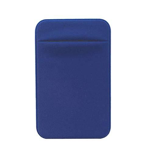 Blauwe Telefoonkaarthouder Portemonnee Ultra Slim 3M Zelfklevende Sticker Portemonnee voor ID-kaart, Sportschool, Credit Card. Geschikt voor de meeste mobiele telefoons