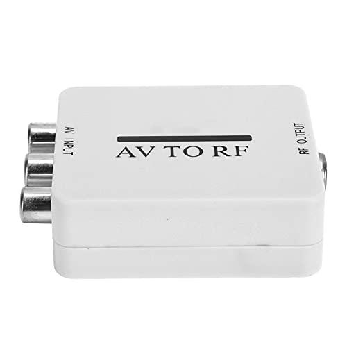 Convertidor de Video Adaptador Mini AV a RF Adaptador de Audio Bajo Consumo de energía Cable de conexión RCA RF Cable USB Amplificador de TV RCA AV CVSB a RF 67.25MHz 61.25MHz