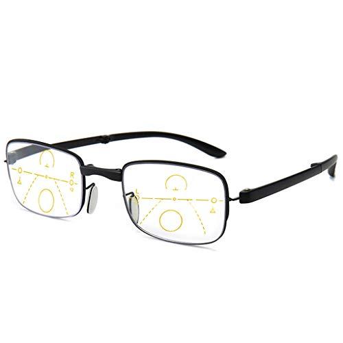 Leesbril Womens Anti-Blue Blocker Light Folding Readers Plus Film Anti-blauw Licht Progressieve Multi-focus Leesbril Mannen En Vrouwen Slimme Bril