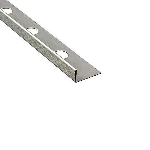 L-Profil Edelstahlschiene Fliesenprofil Fliesenschiene Edelstahl V2A L250cm 10mm gebürstet