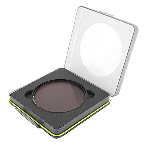 214 Filtro UV de cámara, Filtro de Lente de cámara de aleación de Aluminio de Vidrio óptico, Filtro de Lente de cámara con protección UV Accesorio de fotografía, Negro + Transparente(77 mm)