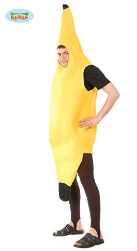 Guirca - Disfraz de plátano para adulto, color amarillo, 80407.