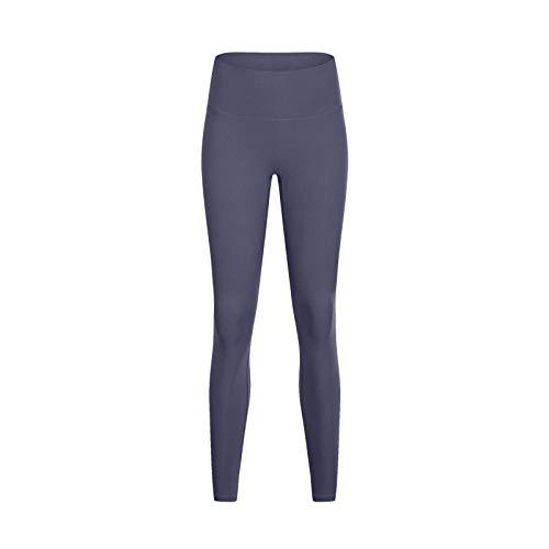 Push Up Mujer Mallas Pantalones,Sin línea, Pantalones de Yoga Desnuda, Pantalones de Cintura Alta de Cintura.-Gris púrpura 6_L,Sin Costuras Yoga Leggins