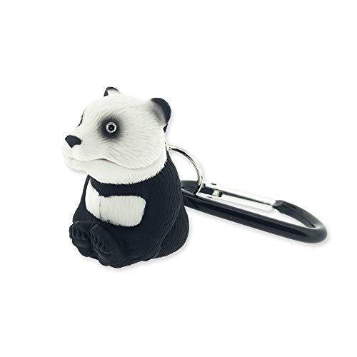 Sun Company WildLight Animal Carabiner Flashlight - Panda | Mini Animal Keychain Flash Lights for Kids or Penlight for Pediatrics Nurses