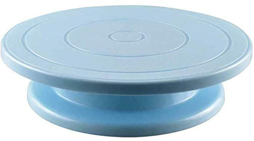 ZAIZAI Mesa Giratoria para Decorar Pasteles: para Pintar, Decorar Pasteles-Bleu