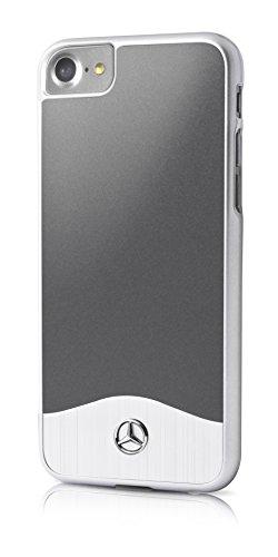 Mercedes Glossy PC metálico de Efecto Cepillado Carcasa de Aluminio para Apple iPhone 7Plus Opal