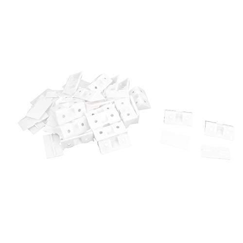 X-DREE 90 degrés d'angle en plastique Connecteurs Blanc Lot de 20 W pour(20 pezzi 90 gradi di plastica bianca armadio armadio armadio angolo connettori w copertura