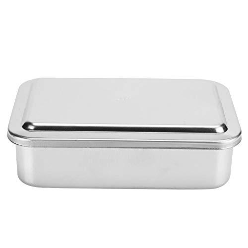 Fdit 15,2 cm Edelstahl rechteckige Instrumenten-Aufbewahrungsbox Reinigungsbox mit Deckel für Klinik