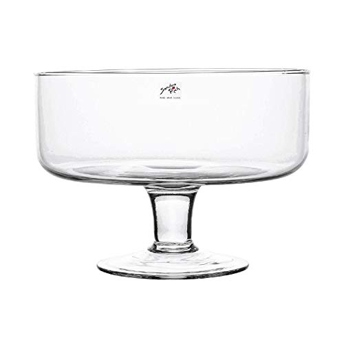 Glasschale BOWL ON FOOT Glas Schale Kelch 17,5 cm, Ø 24 cm