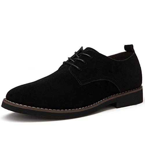 Primavera Otoño Hombres Clásicos Oxfords Vintage Punta Puntiaguda Derby Lace Up Suede Party Zapatos de Vestir de Boda Simple Casual...